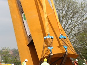 Weathering steel was used for the Bomber Command Memorial Spire
