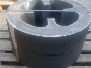Grade S355J2+N 370mm Thick Gas Profiled Plate For Heavy Engineering