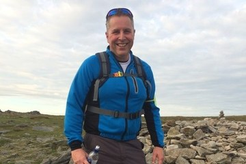 Operations Manager Mark Hewitt, completing the Yorkshire Three Peaks