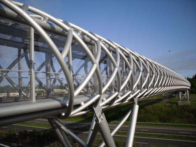 Murray made bespoke steel profiles for the M8 Footbridge, Harthill