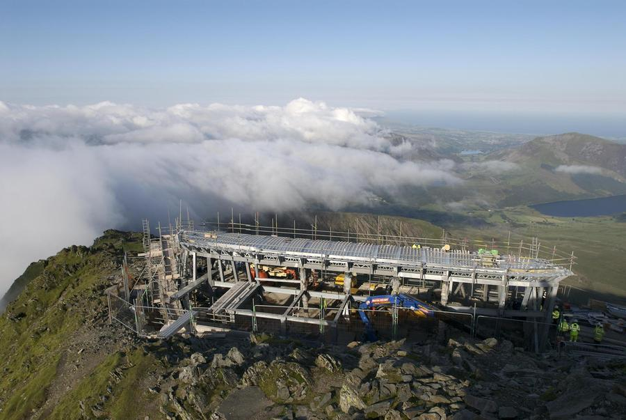 Snowdon cafe construction